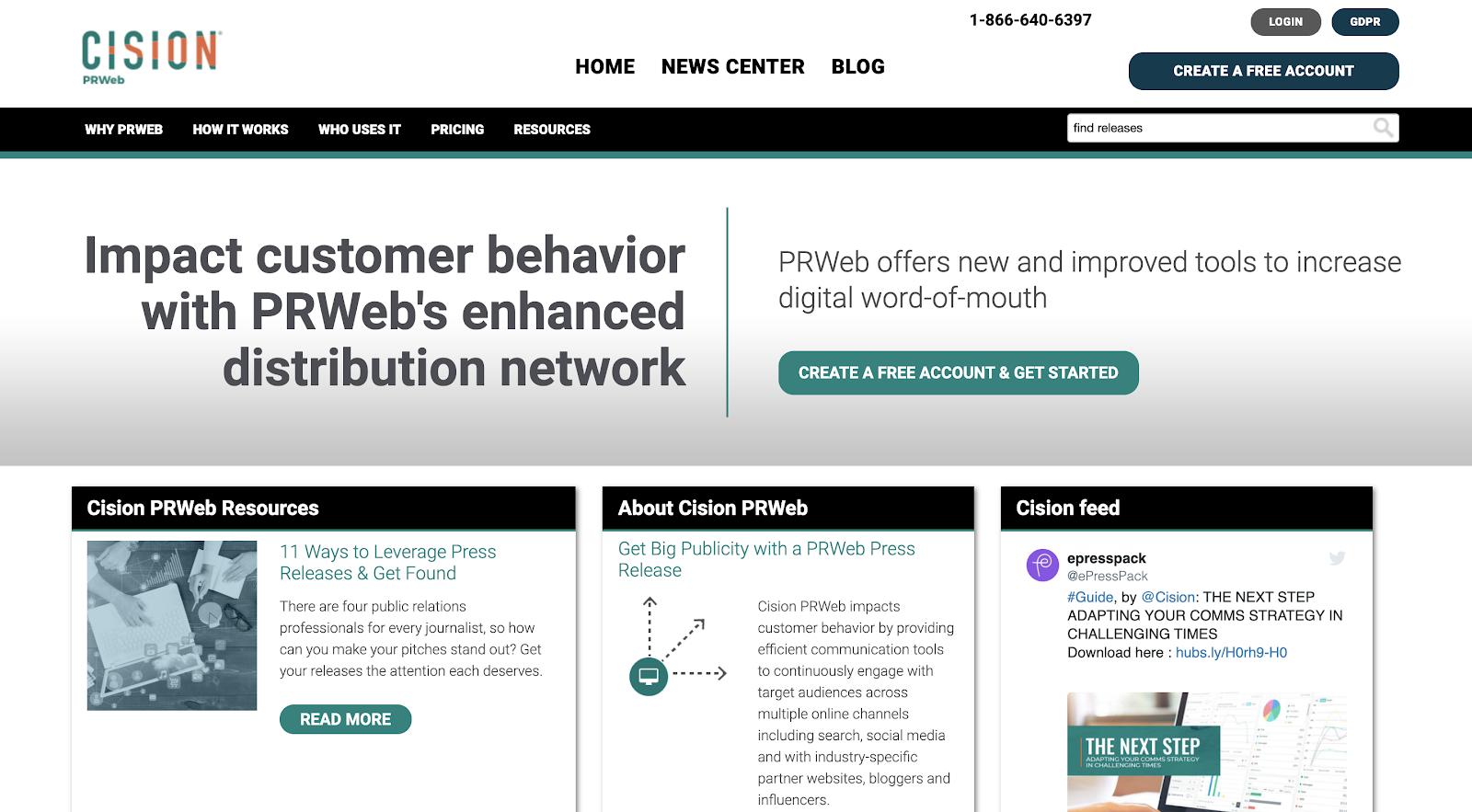 PRWeb Homepage