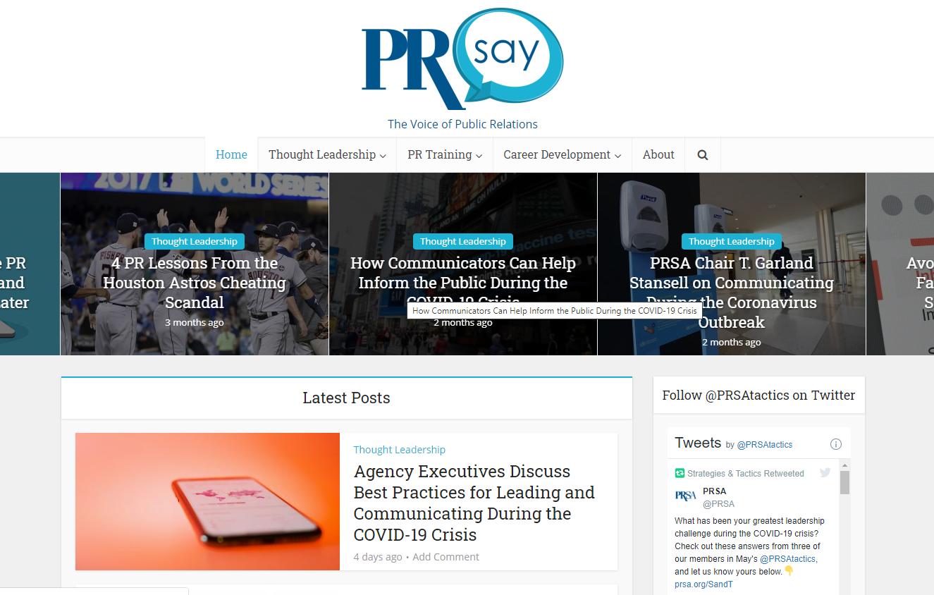 PRsay Home Page