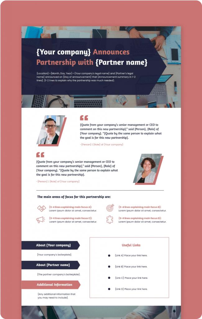 Partnership Press Release Preview