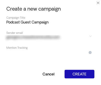 Podcast Guest Campaign
