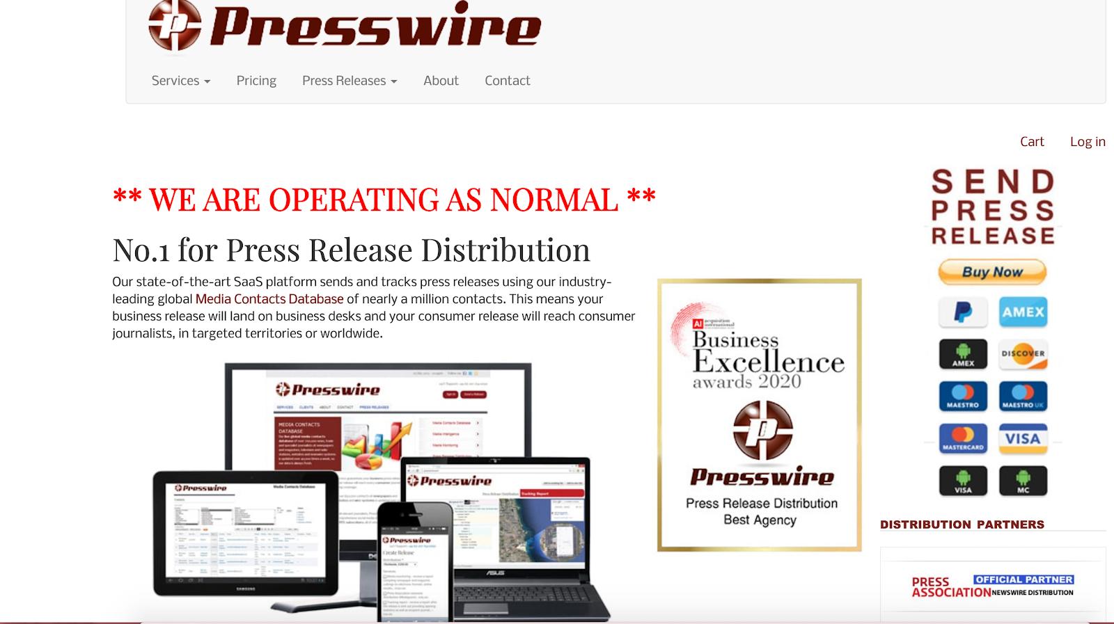 PressWire Homepage