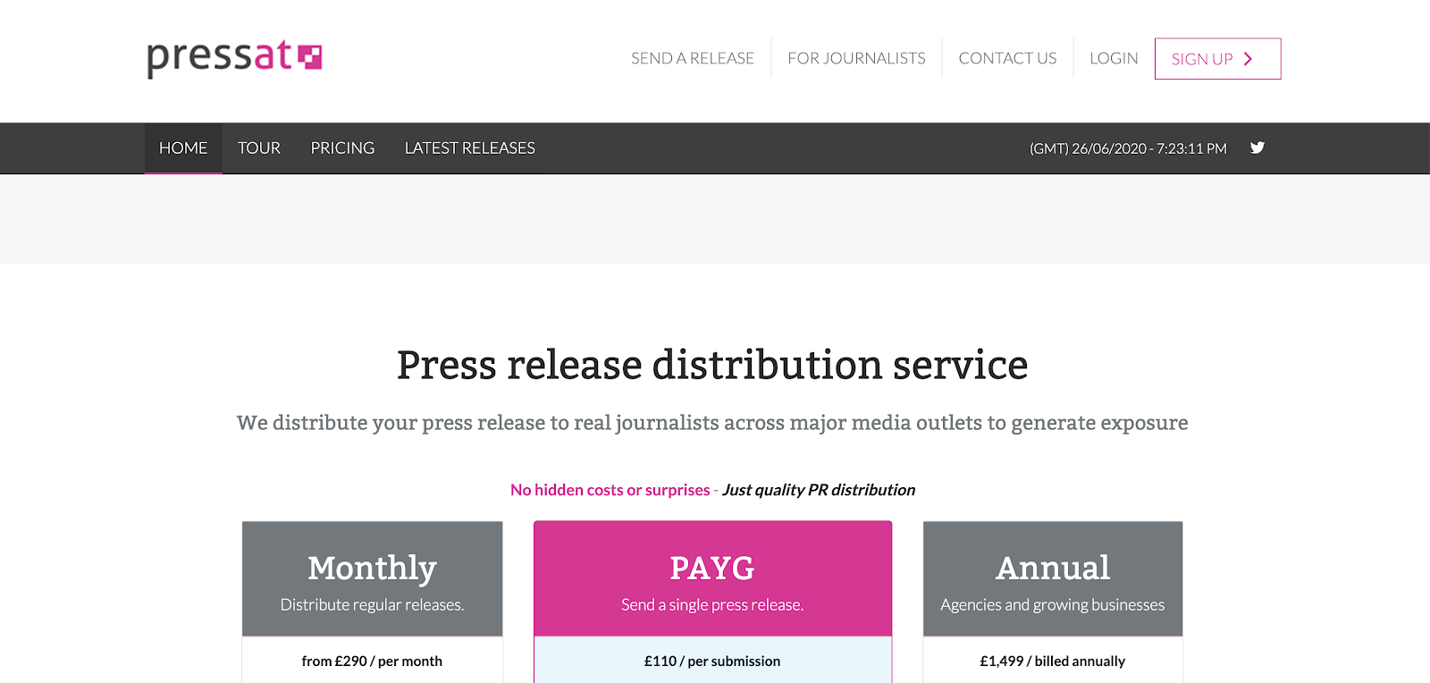 Pressat Homepage
