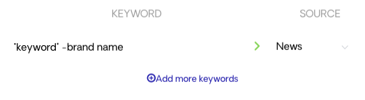Selecting keywords for an automation