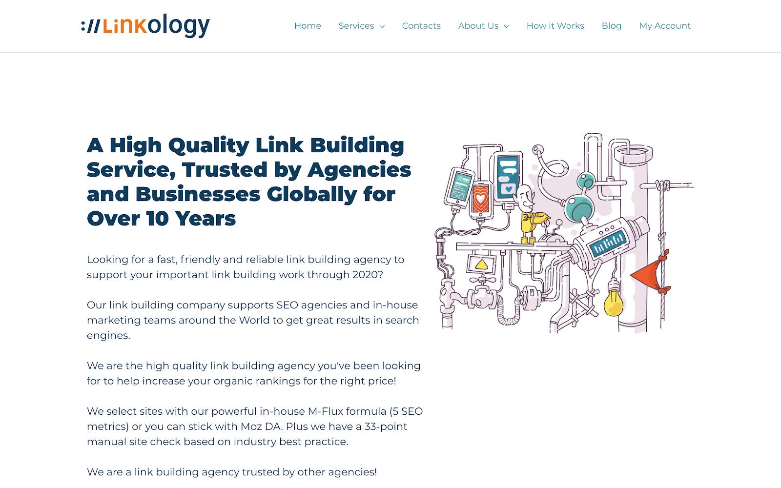 Linkology home page