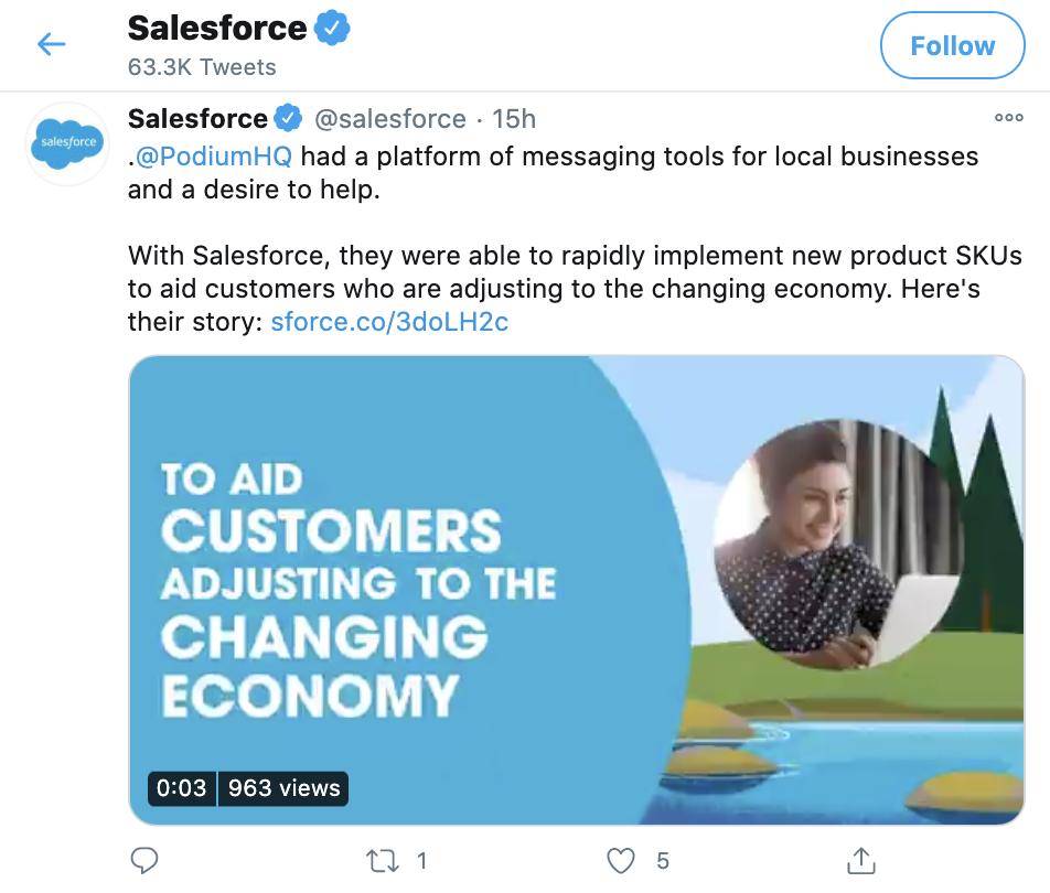 Salesforce Twitter profile