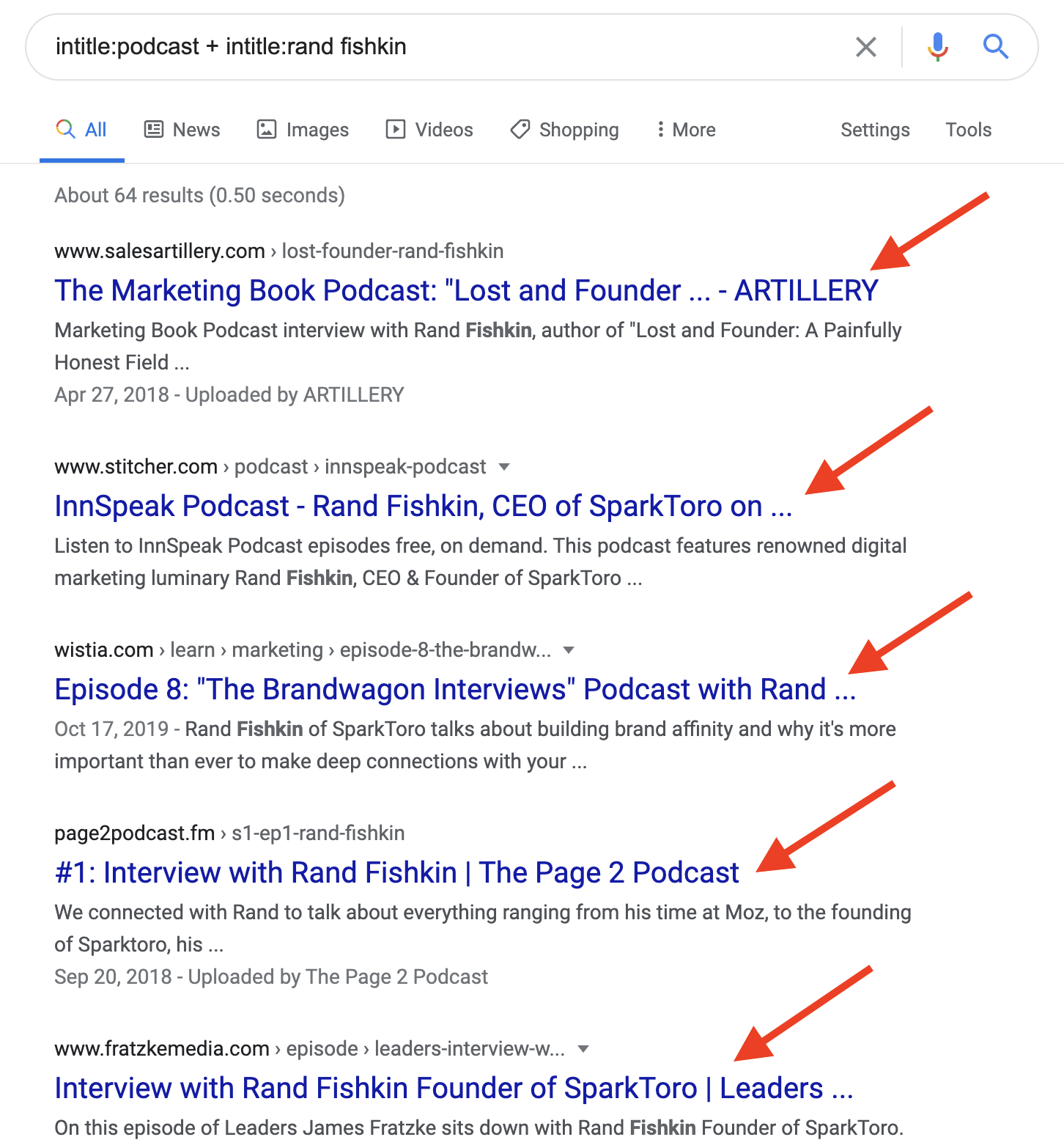 Rand Fishkin on Podcasts