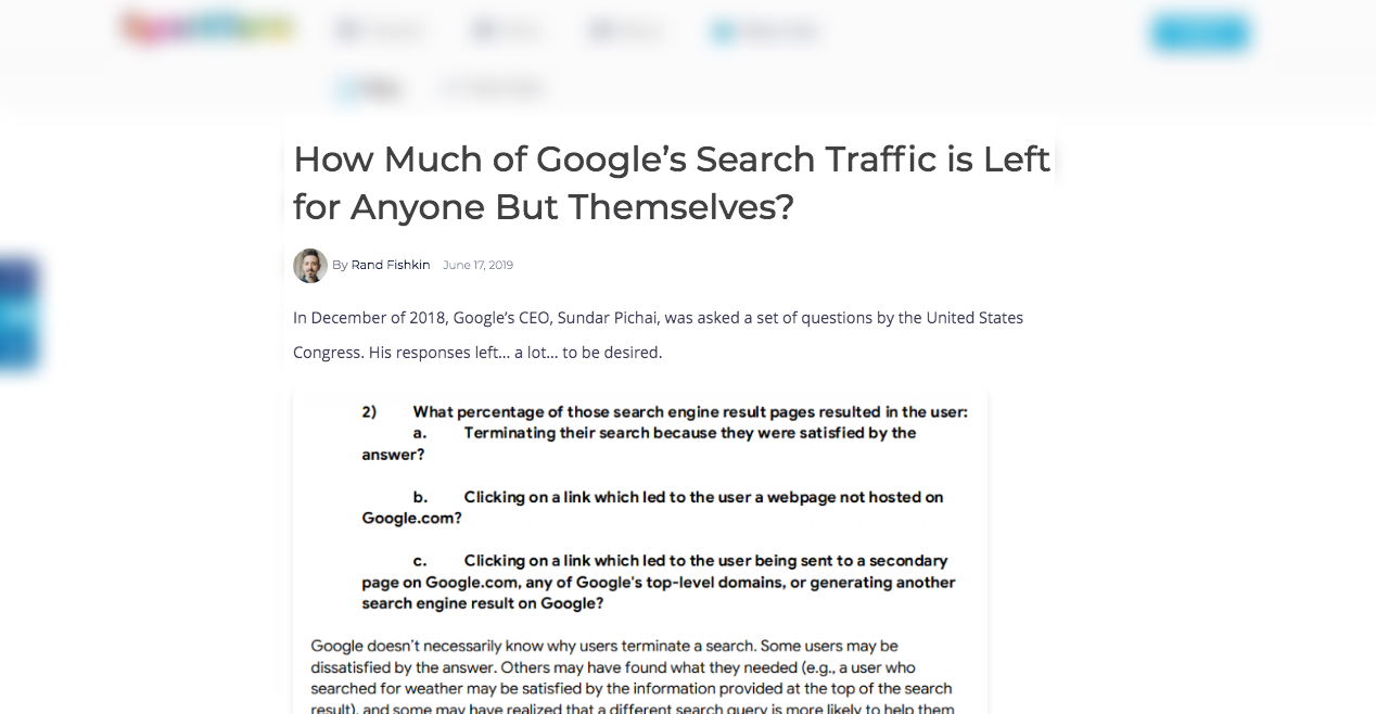 Rand Fishkins Study on No Click Searches