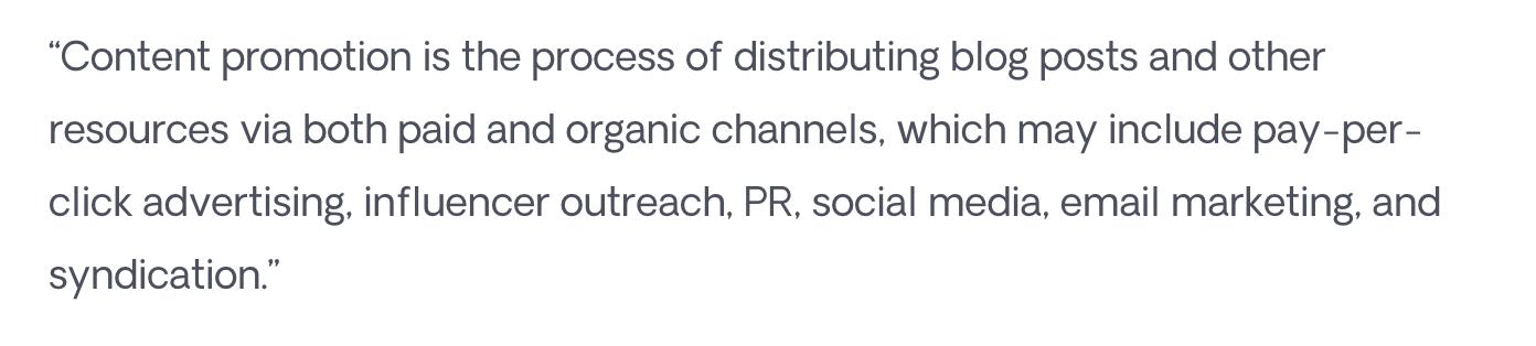 Respona Content Promotion Definition
