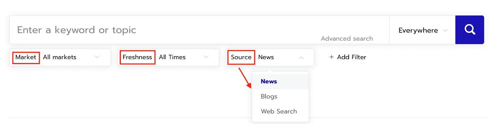Respona Content Search Tool