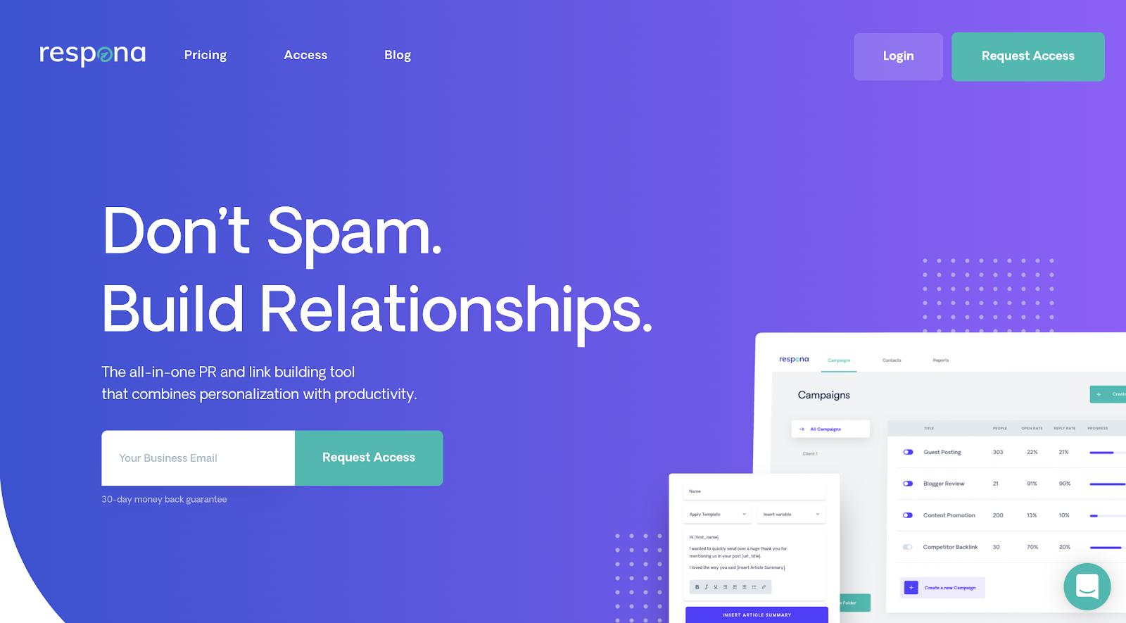 Respona Homepage