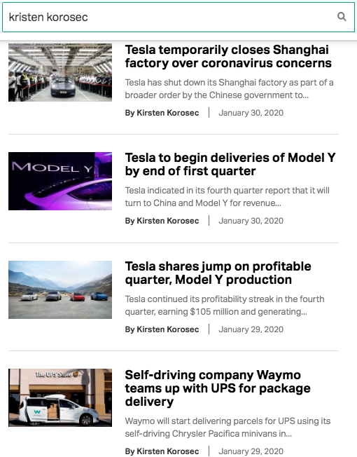 Results From Reporter on TechCrunch