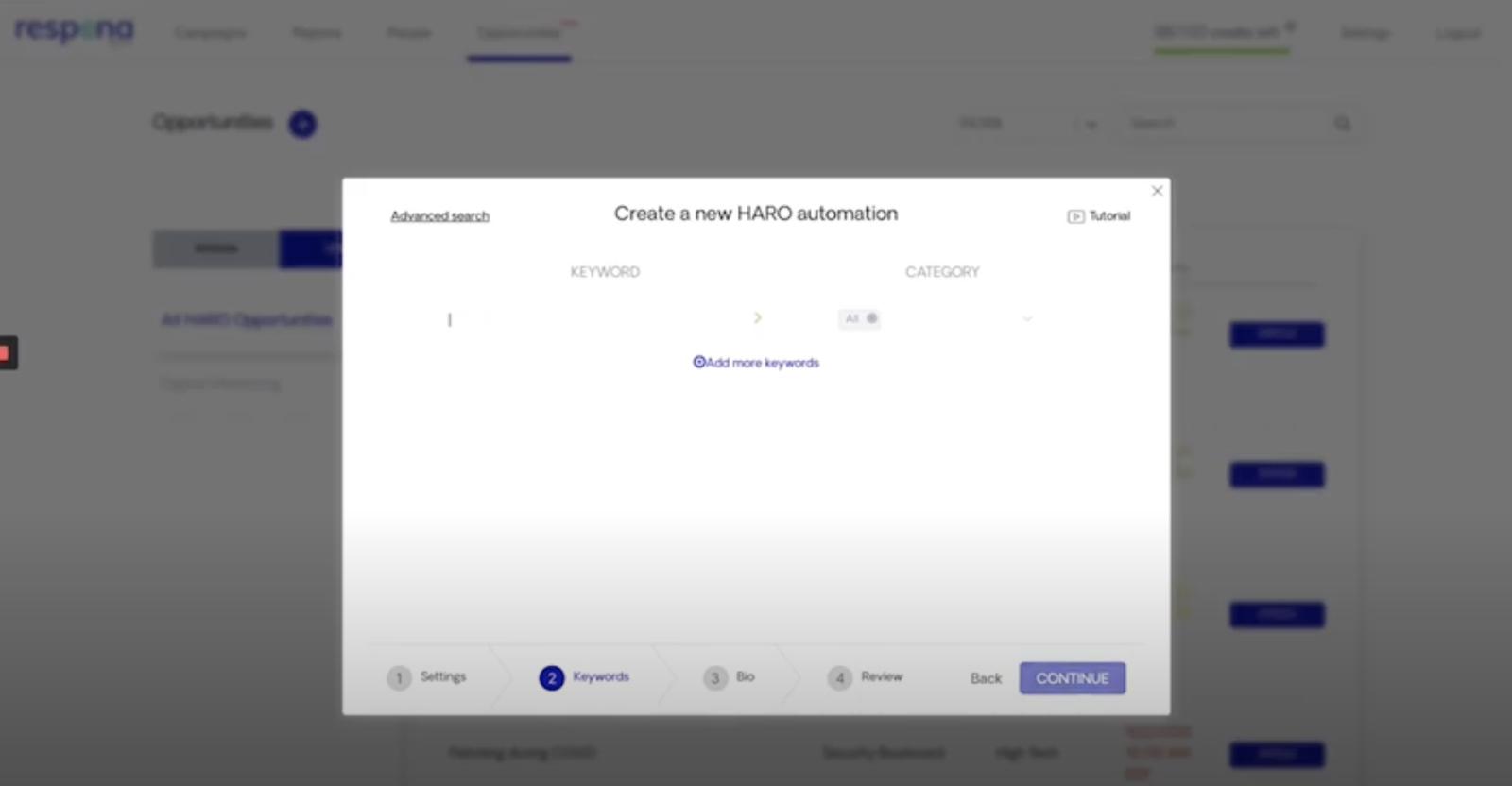 Screencast of HARO Feature