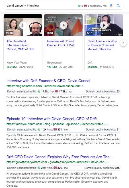 Search for Drifts CEO on Google