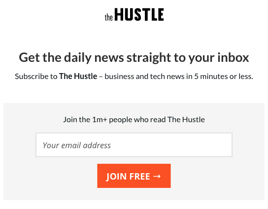 Sign Up for The Hustle