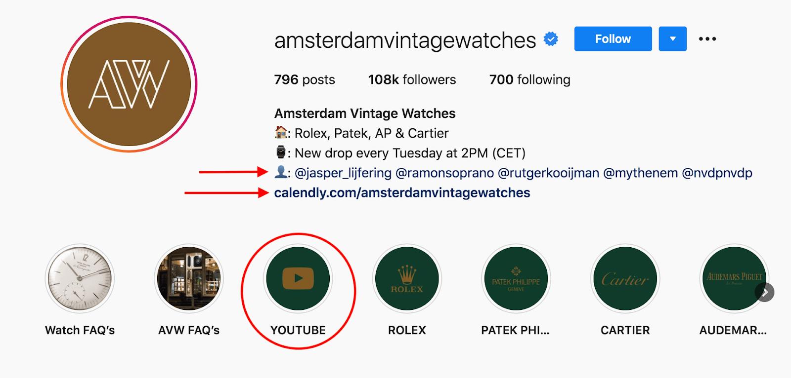Amsterdam Instagram profile
