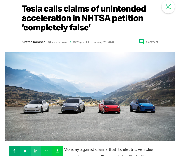 TechCrunch Article on Tesla 2