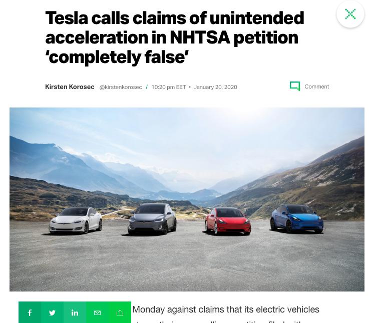 TechCrunch Article on Tesla 2