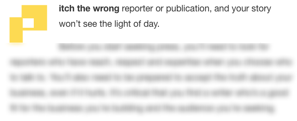 TechCrunch Message on Media Pitching