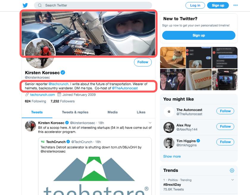 TechCrunchs Reporter Twitter Profile