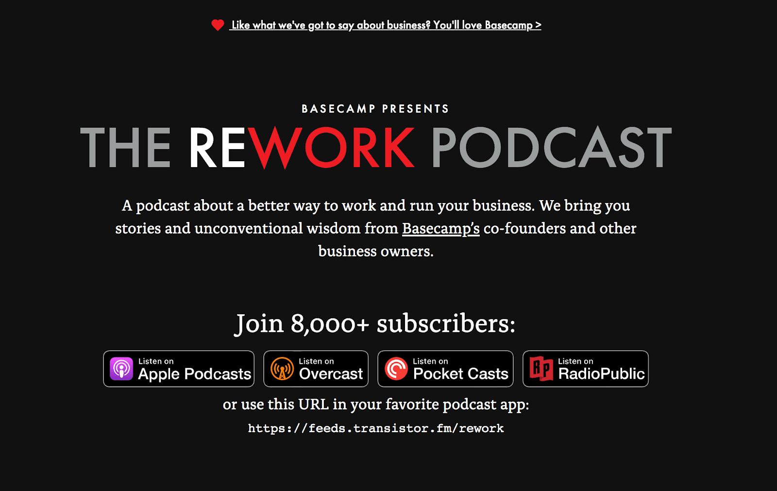 The Rework Podcast