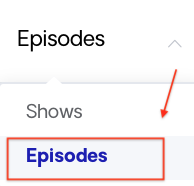 Episode content option