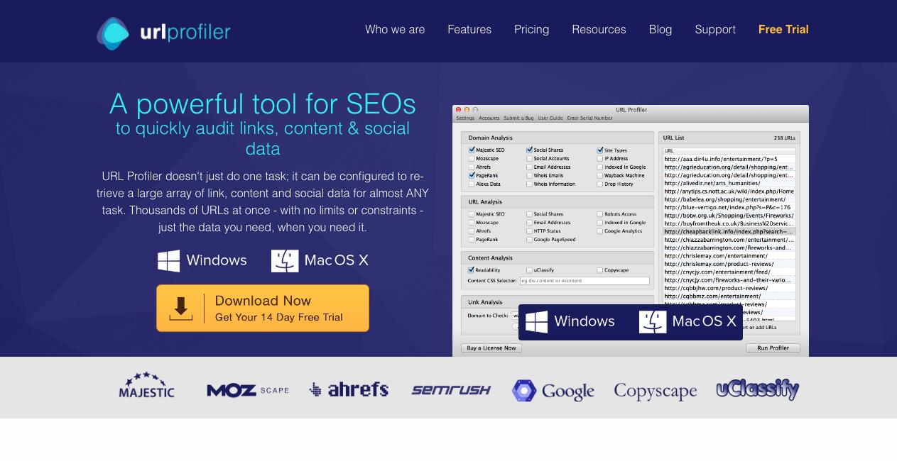 URL Profiler Homepage