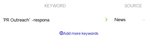 Determining keywords for an automation