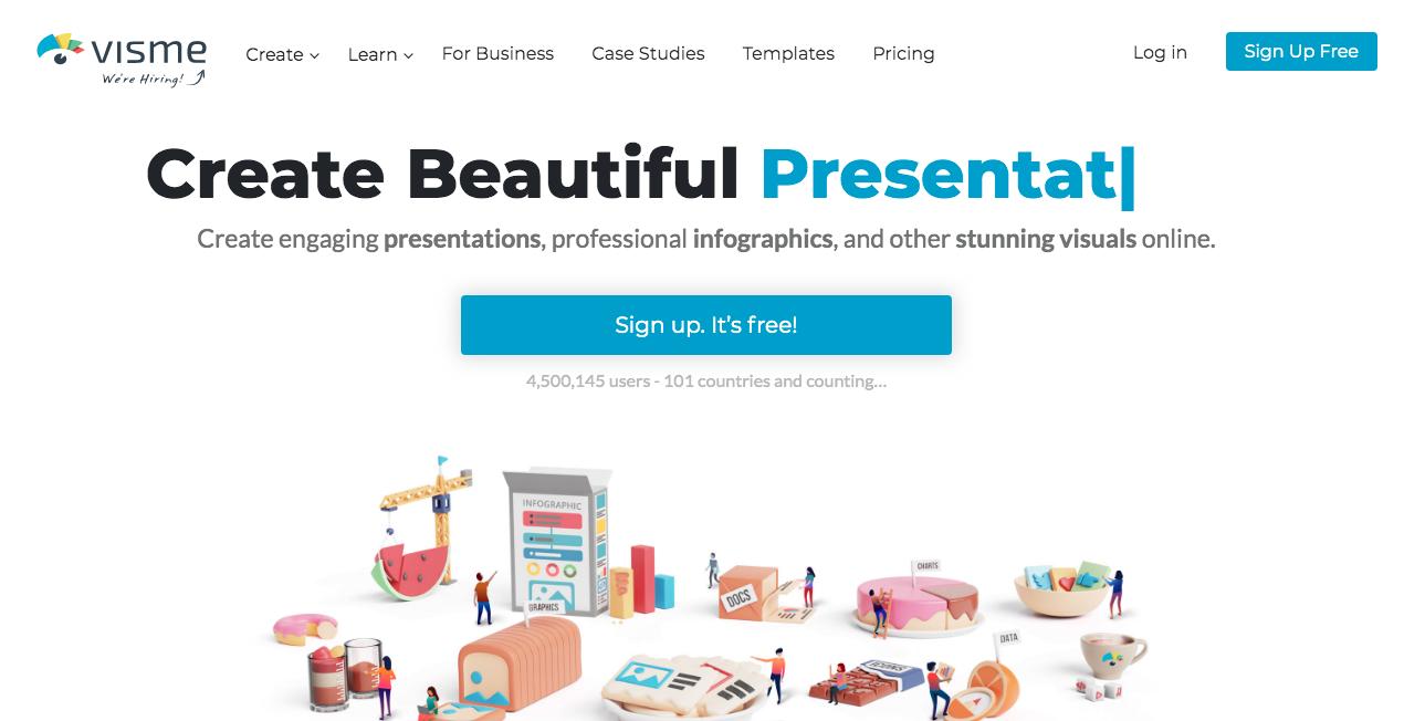 Visme Homepage 1