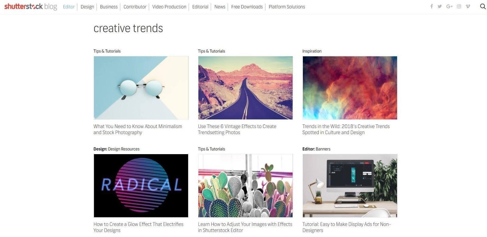 Shutterstock genres