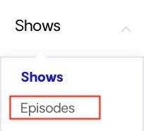 podcast episode dropdown