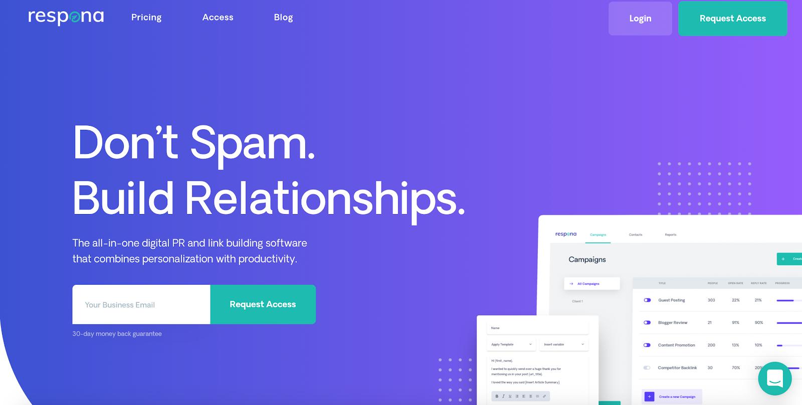 Respona home page