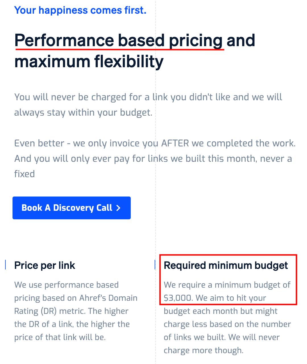 Dofollow.io pricing description