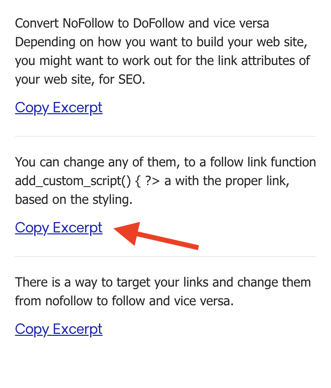 Found article summary snippets
