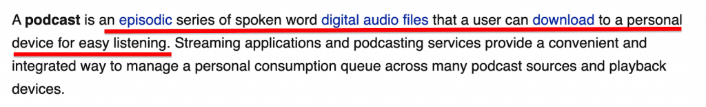podcast definition