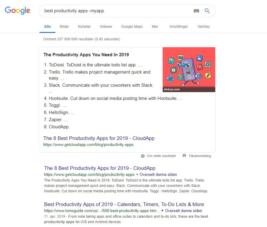 best productivity apps search myapp
