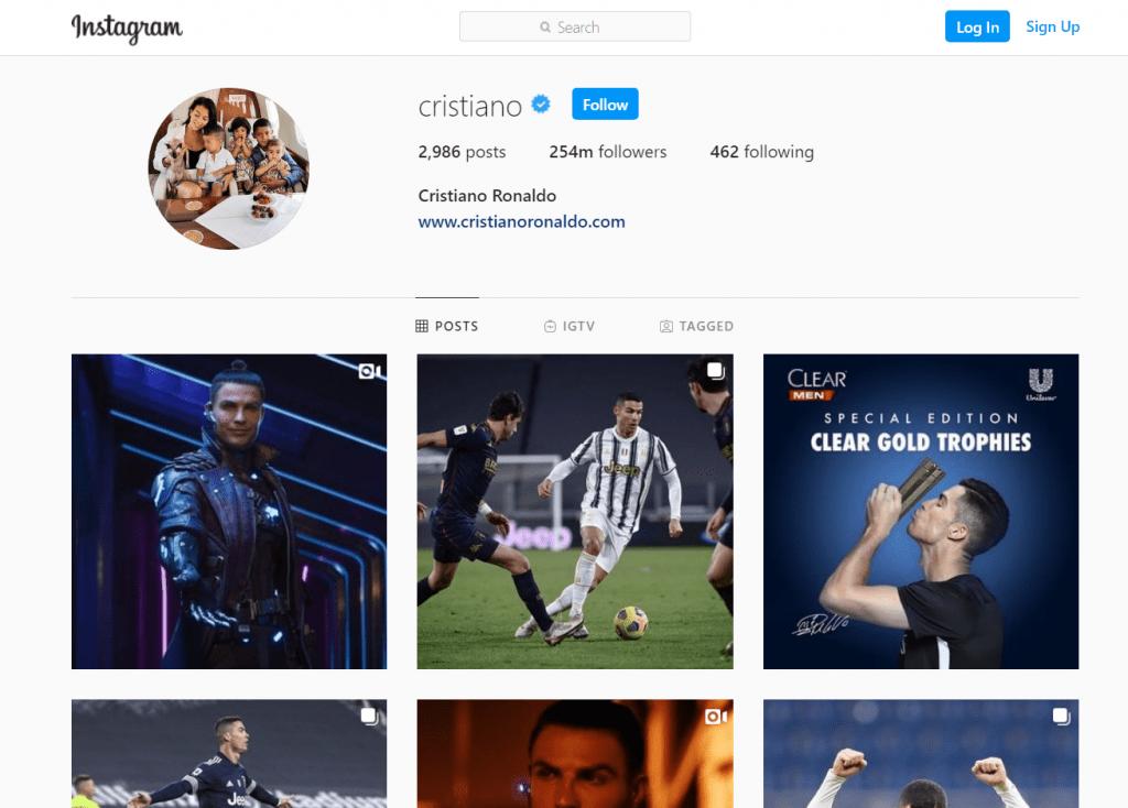 Cristiano Ronaldo's instagram