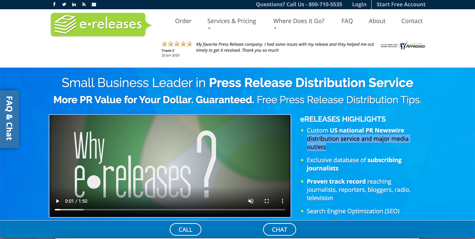 eReleases Homepage