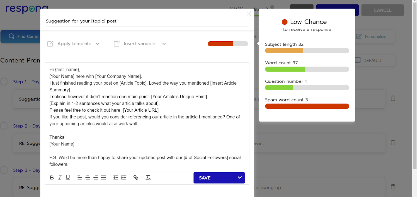 email feedback respona