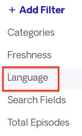 language filter