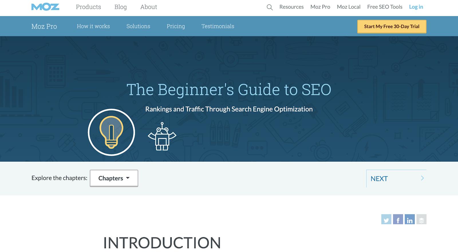 Moz's Beginner's Guide to SEO