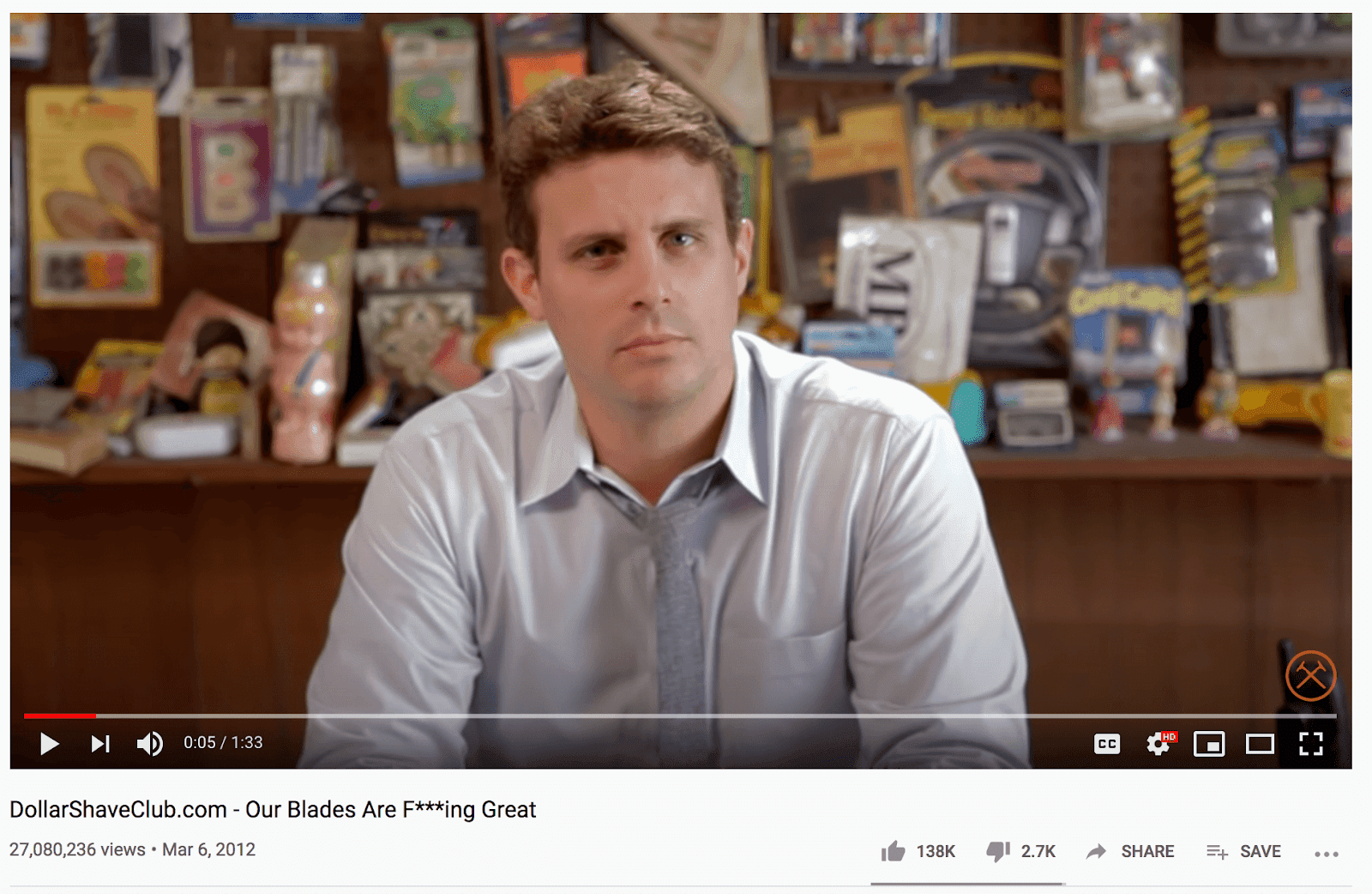 DollarShaveClub youtube video