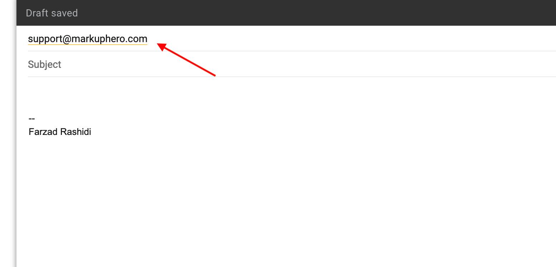 MarkupHero support email