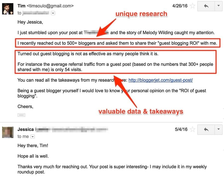 Ahrefs personalized email example