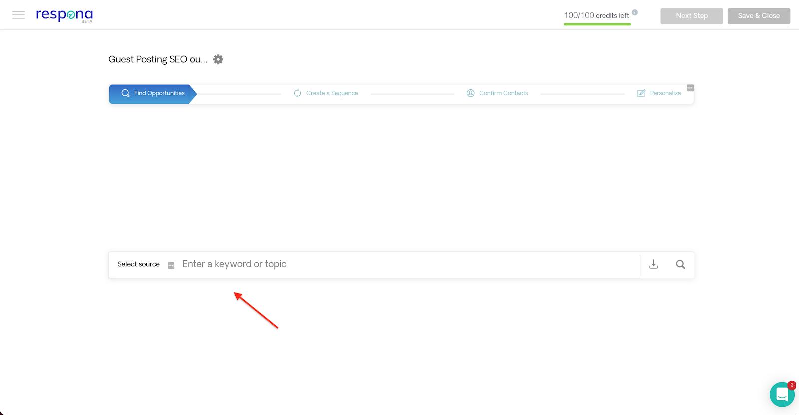 Respona content search engine