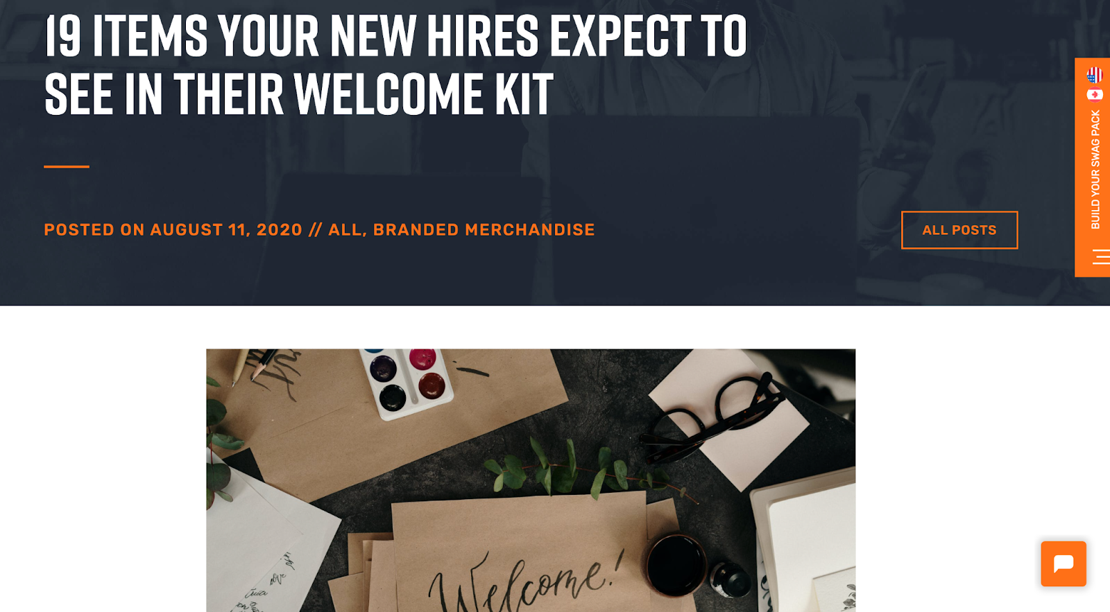 PRG Store blog post on welcome kits.