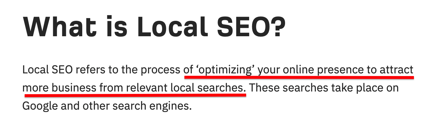 Local SEO definition