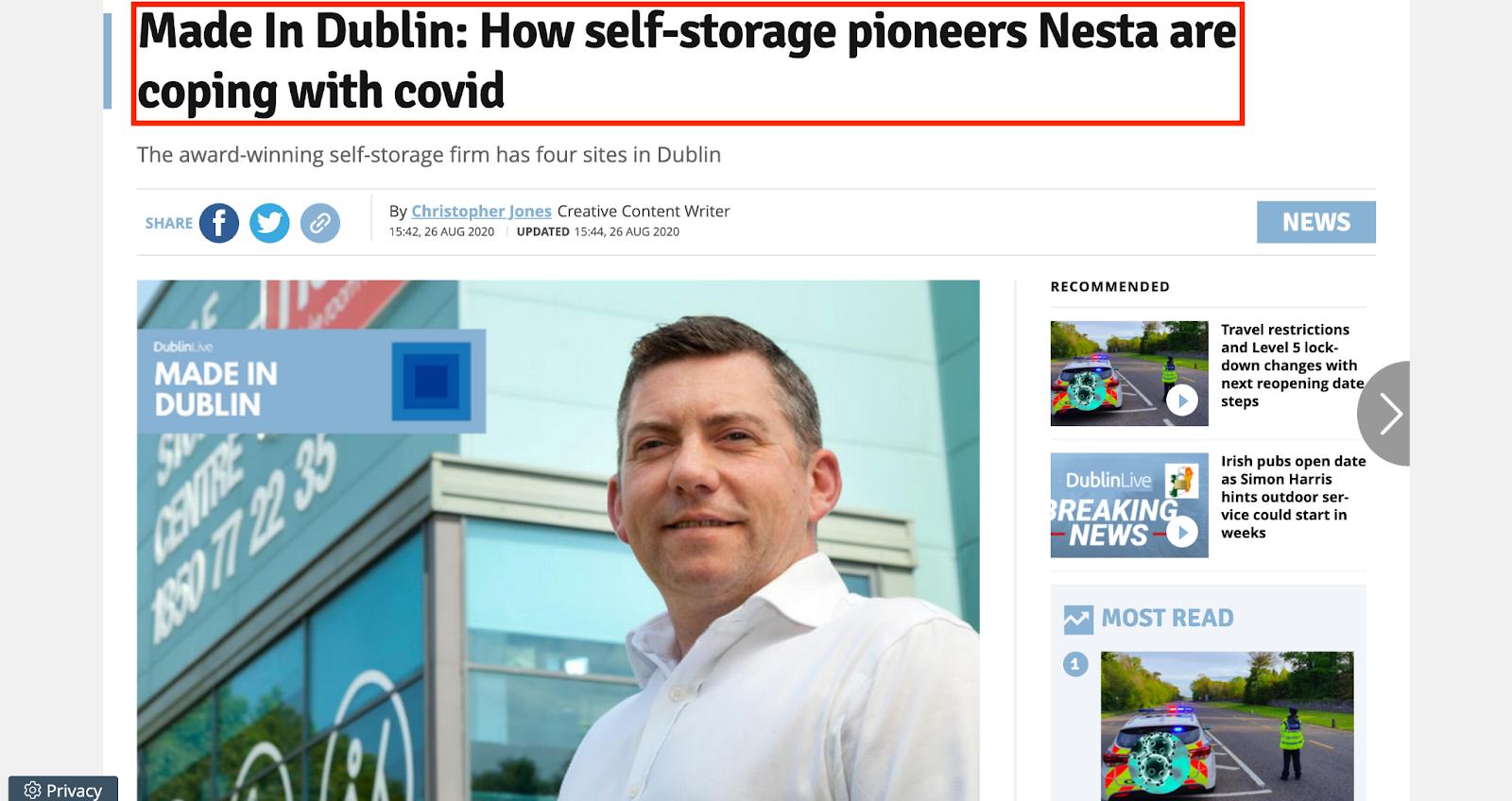 Nesta storage PR article