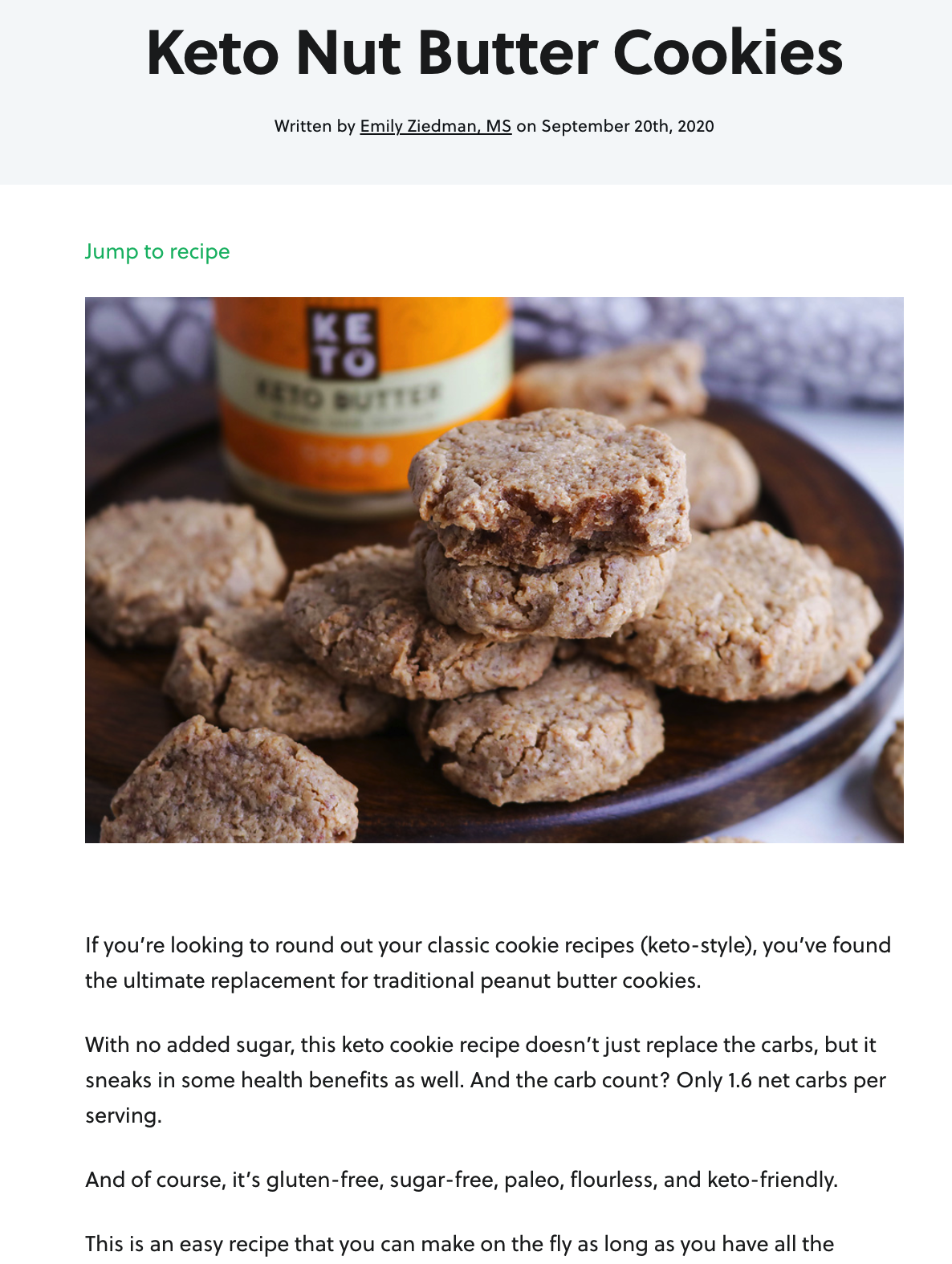 Perfect Keto nut butter cookies recipe