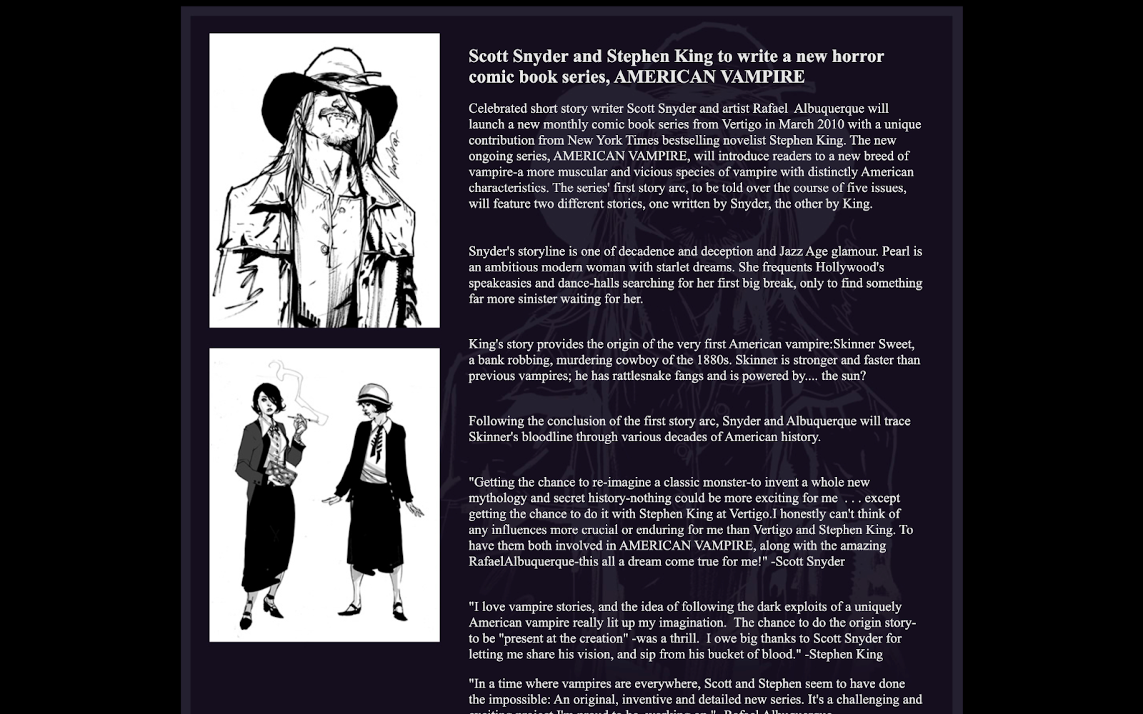 American Vampire Press Release