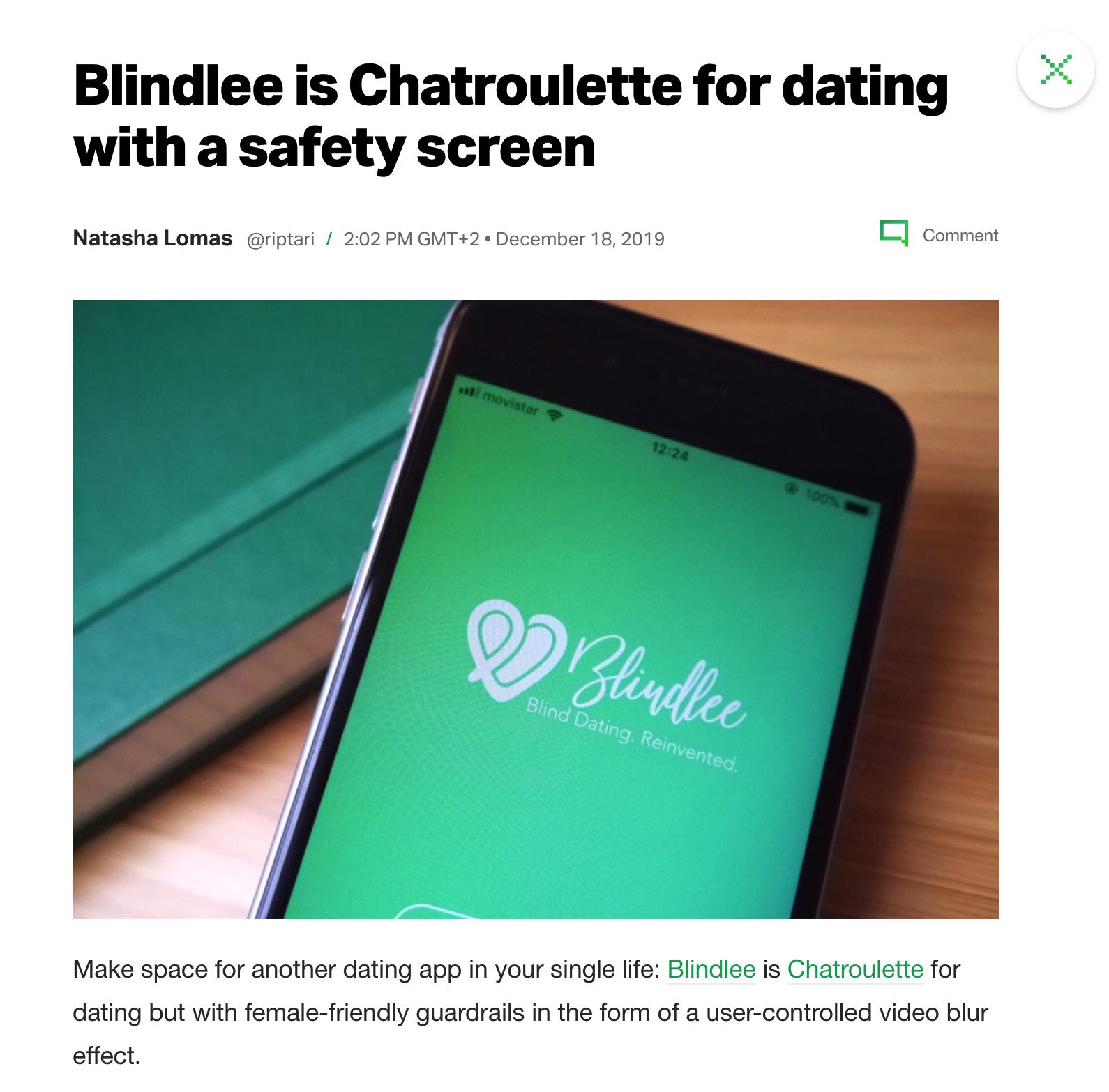Blindlee feature on TechCrunch